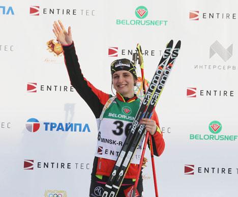 Победитель спринтерской дистанции на 7,5 км Лена Арно