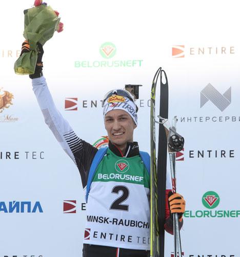 Победитель гонки преследования среди юношей до 19 лет Феликс Ляйтнер