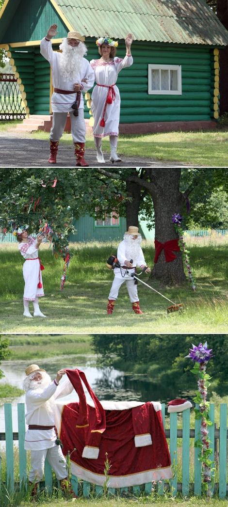 И летом хватает забот у Деда Мороза и его внучки из резиденции Бубновка