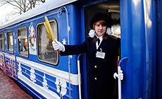 Новогодний экспресс на Детской железной дороге в Минске