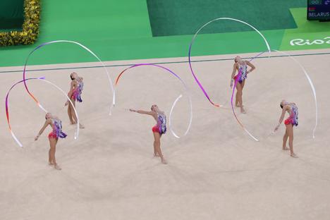 Белорусские гимнастки заняли пятое место на олимпийском турнире в групповых упражнениях