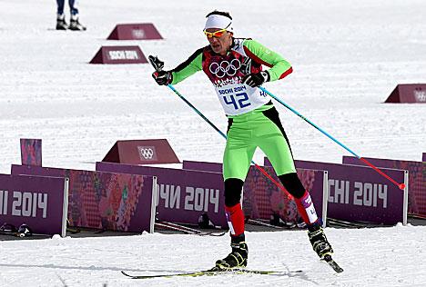 Белорусский лыжник Сергей Долидович в Олимпиаде в Сочи