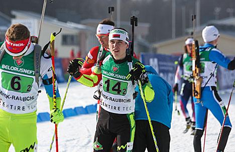 Белорусский биатлонист Игорь Карпюк