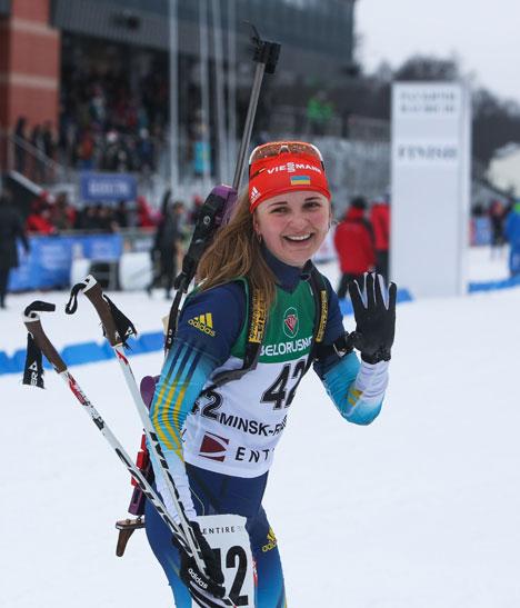 Победитель индивидуальной гонки юниорок на 12,5 км Юлия Журавок