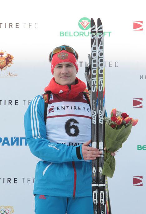 Победитель пасьюта на 12,5 км среди юниоров до 21 года Эдуард Латыпов