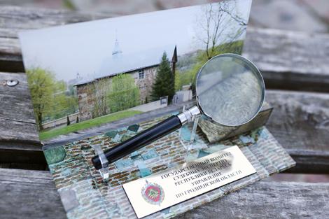Увеличенная 3D-модель отпечатка пальца, обнаруженного на стене храма