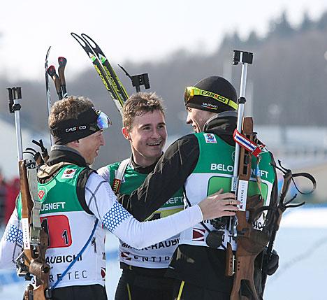 Российская команда - Игорь Шетько, Никита Поршнев и Кирилл Стрельцов