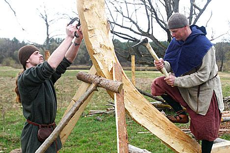 В Лидском районе энтузиасты создают музей викингов