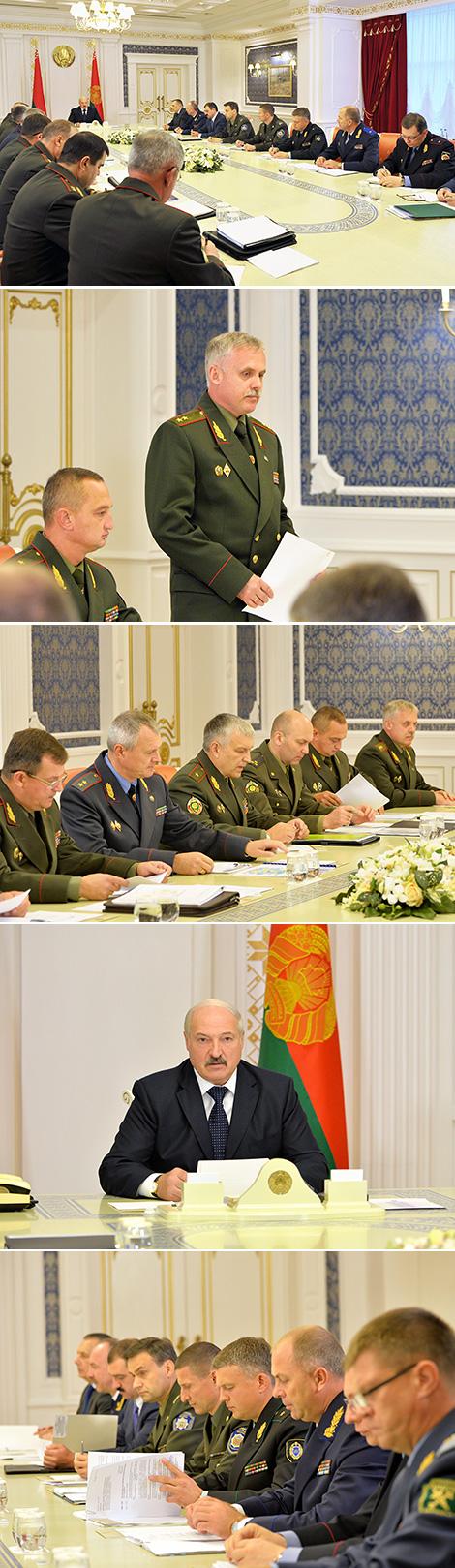 Совещание с руководством Государственного секретариата Совета Безопасности Беларуси