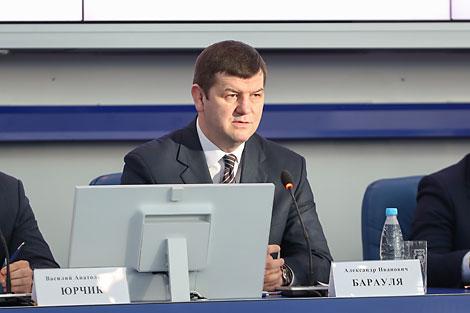 Шеф белорусской миссии в Пхенчхане, заместитель министра спорта и туризма Александр Барауля