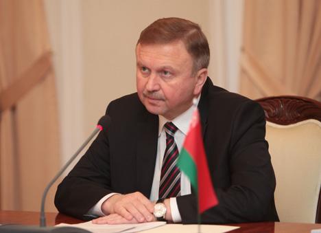 Belarus' Prime Minister Andrei Kobyakov