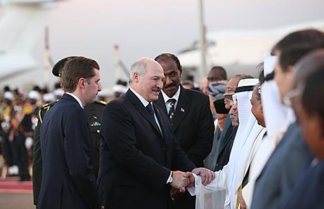 Лукашэнка прыбыў з афіцыйным візітам у Судан