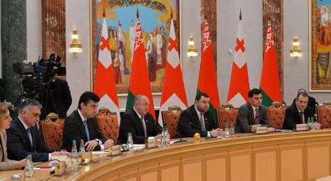 Лукашэнка: Супрацоўніцтва Беларусі і Грузіі набрала добрыя абароты па ўсіх напрамках