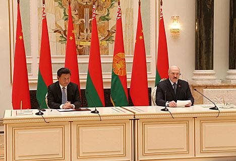 Аляксандр Лукашэнка і Сі Цзіньпін