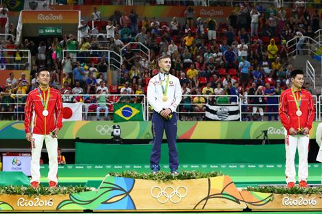 Беларус Уладзіслаў Ганчароў стаў алімпійскім чэмпіёнам у скачках на батуце