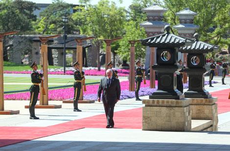 Лукашэнка на саміце ў Пекіне заклікаў краіны да сумеснага мірнага і ўзаемавыгаднага развіцця