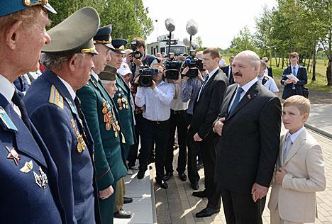 Лукашэнка на цырымоніі закладкі памятнай капсулы