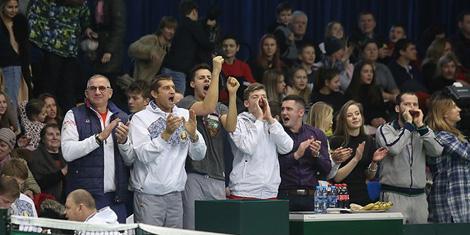 Беларускія тэнісісты перамаглі каманду Румыніі ў матчы Кубка Дэвіса