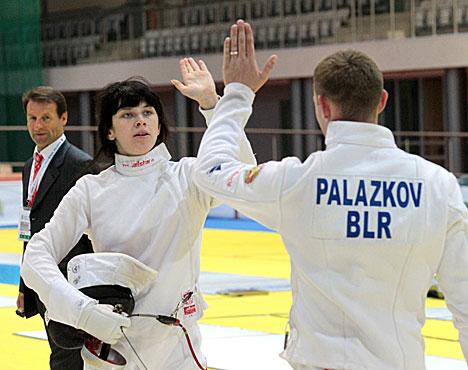 Беларуска Кацярына Арол у фехтаванні