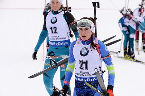 Ірына Крыўко заняла другое месца ў мас-старце на этапе КС па біятлоне ў Францыі
