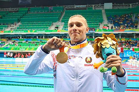 Беларус Уладзімір Ізотаў стаў лепшым у турніры сярод плыўцоў у катэгорыі SB12