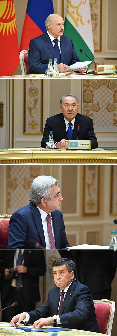 Лукашэнка: Беларусь з'яўляецца паслядоўным прыхільнікам актыўнага ўзаемадзеяння ў АДКБ
