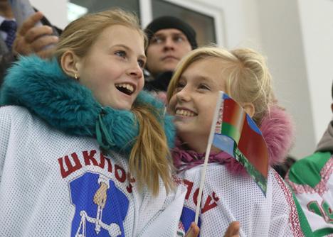 Лукашэнка адкрыў Лядовую арэну ў Шклове