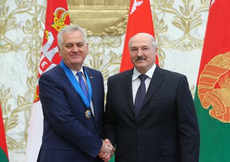 Лукашэнка разлічвае на далейшае пазітыўнае развіццё беларуска-сербскіх адносін