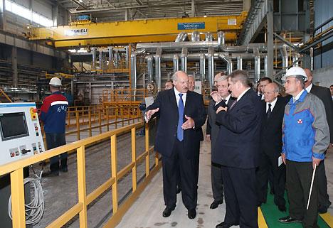 Лукашэнка на БМЗ запусціў новую вытворчую лінію