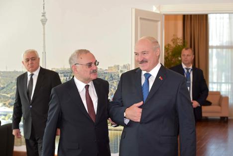 Лукашэнка і Расі-задэ абмеркавалі перспектывы развіцця беларуска-азербайджанскіх адносін