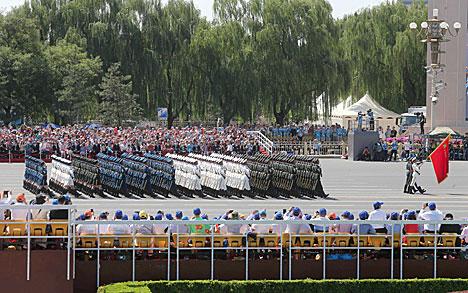 Лукашэнка прысутнічаў на ваенным парадзе ў Пекіне ў гонар 70-годдзя Перамогі