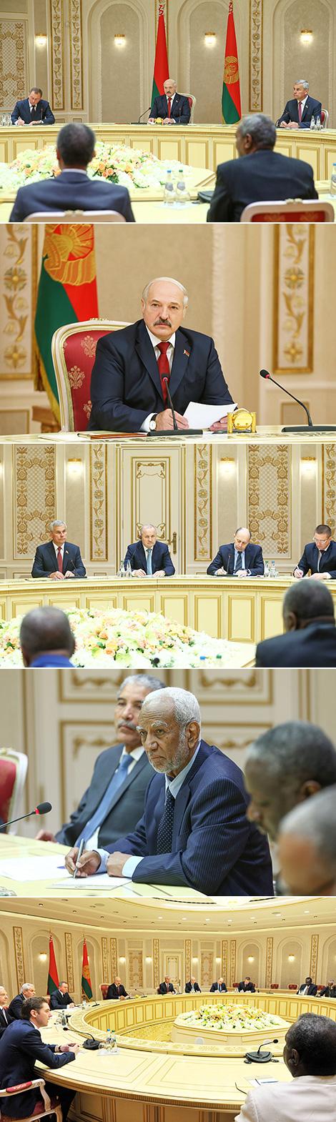 Лукашэнка: Беларусь сур'ёзна настроена на паспяховае ажыццяўленне сумесных праектаў з Суданам