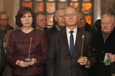 Намеснік прэм'ер-міністра Наталля Качанава і міністр культуры Барыс Святлоў
