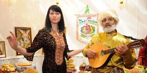Прадстаўнікі туркменскай культуры. Фота з архіву