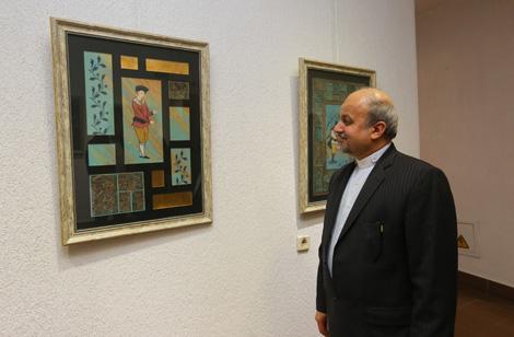 Больш за 100 твораў прадстаўлена на выстаўцы іранскага мастацтва ў Мінску