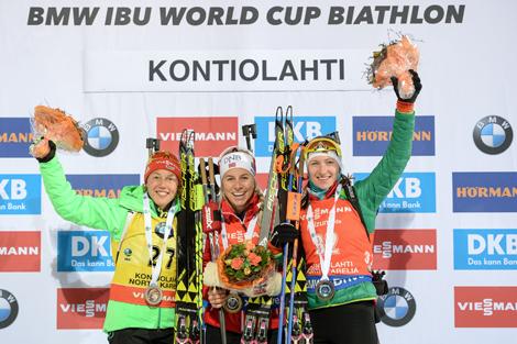 Дар'я Домрачава заняла трэцяе месца ў спрынце на этапе КС у Фінляндыі