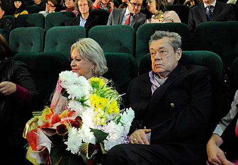 Народны артыст РСФСР Мікалай Карачанцаў з жонкай актрысай Людмілай Паргіной