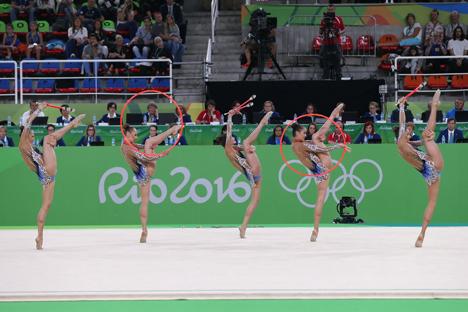 Беларускія гімнасткі занялі пятае месца на алімпійскім турніры ў групавых практыкаваннях