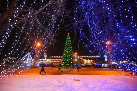 Гулянні ў навагоднюю ноч разгорнуцца на 28 адкрытых пляцоўках Мінска