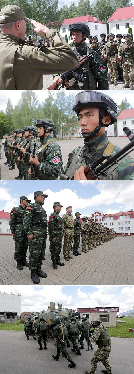 Беларускія і кітайскія спецназаўцы адпрацавалі прыёмы барацьбы з тэрарыстамі