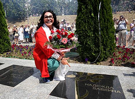 Адкрыццё зоркі Надзеі Бабкінай у Віцебску