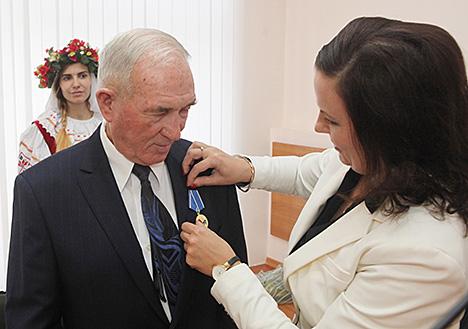 Першы беларускі алімпійскі чэмпіён Леанід Гейштар адзначыў 80-годдзе