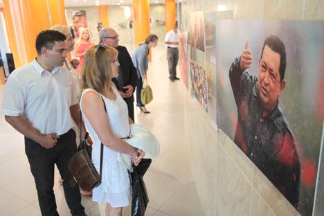 Фотавыстаўка пра жыццёвы шлях Уга Чавеса адкрылася ў Мінску