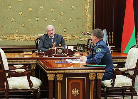 Даклад старшыні Камітэта дзяржаўнага кантролю Леаніда Анфімава
