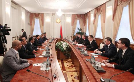 Андрэй Кабякоў на сустрэчы з міністрам эканомікі ААЭ Султанам Бен Саідам аль-Мансуры