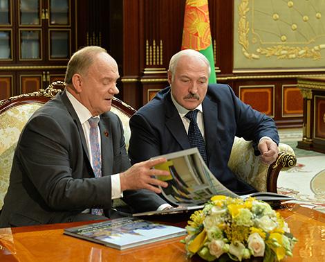 Пра беларуска-расійскія адносіны і ідэі сацыялізму - Лукашэнка сустрэўся з Зюганавым