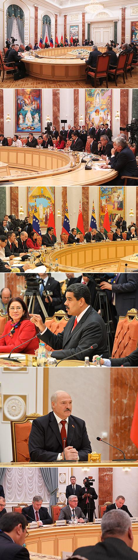 Перагаворы з Прэзідэнтам Венесуэлы Нікаласам Мадурам у пашыраным складзе