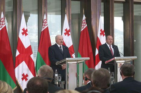 Лукашэнка: Беларусь і Грузія знойдуць такія варыянты супрацоўніцтва, каб партнёры ў ЕАЭС і ЕС не мелі прэтэнзій