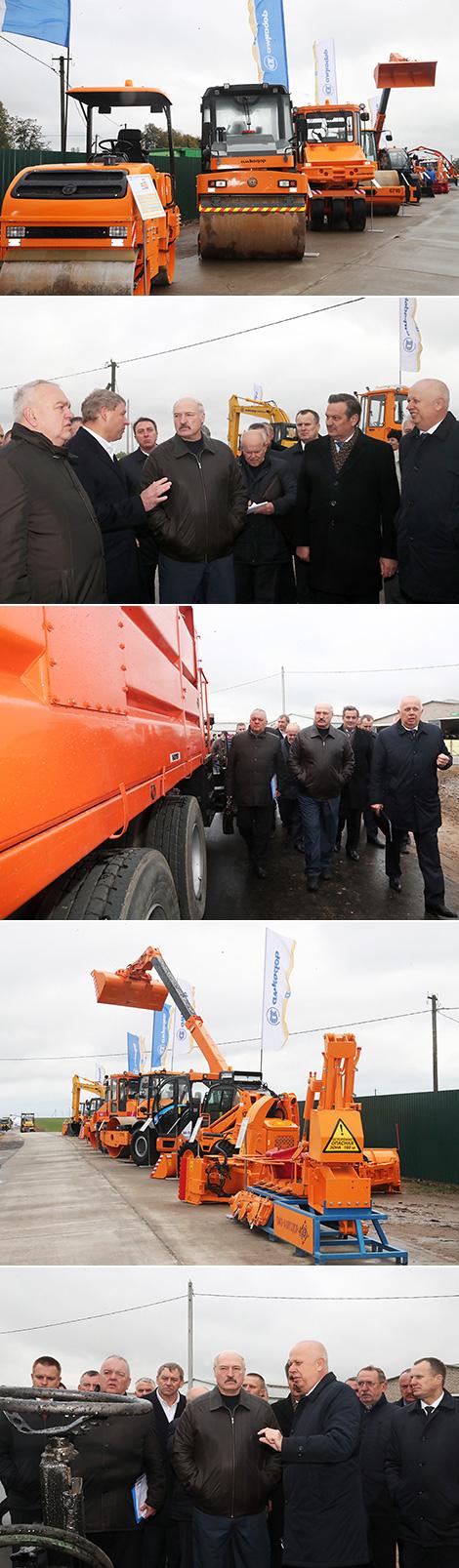 Лукашэнка паставіў перад прамыслоўцамі задачу пашырыць лінейку дарожна-будаўнічых машын