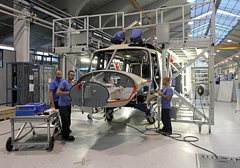 Андрэй Кабякоў наведаў вытворчую пляцоўку AgustaWestland